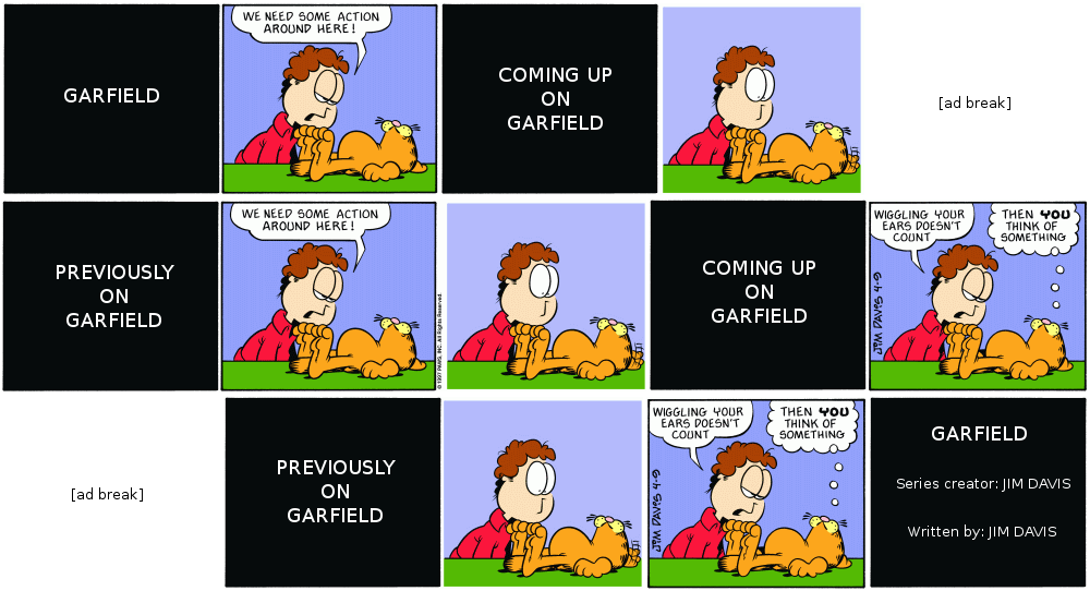Garfield on Cable TV